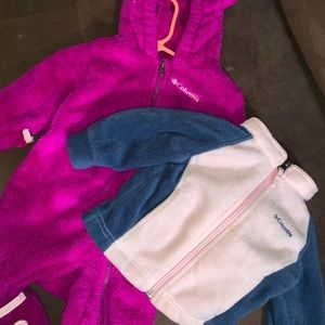 Baby girls 3-6 months snow suit and fleece jacket